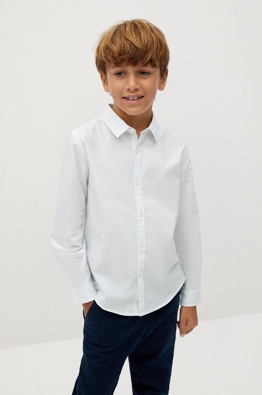 Mango Kids - Camasa de bumbac pentru copii Damian 110-164 cm answear.ro