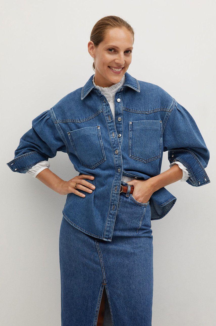 Mango - Camasa jeans Denim70