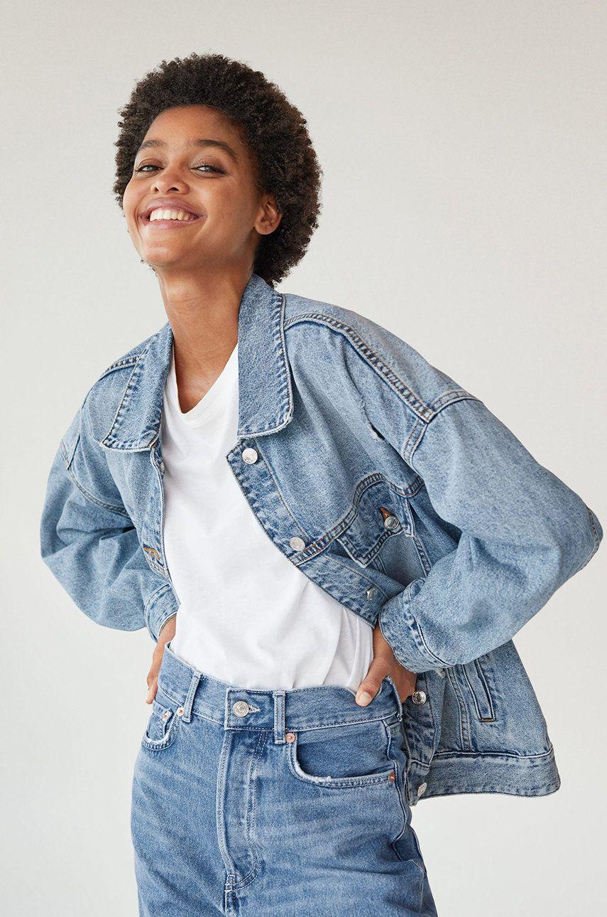 Mango - Geaca jeans Seul
