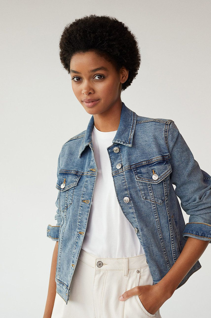 Mango - Geaca jeans Vicky