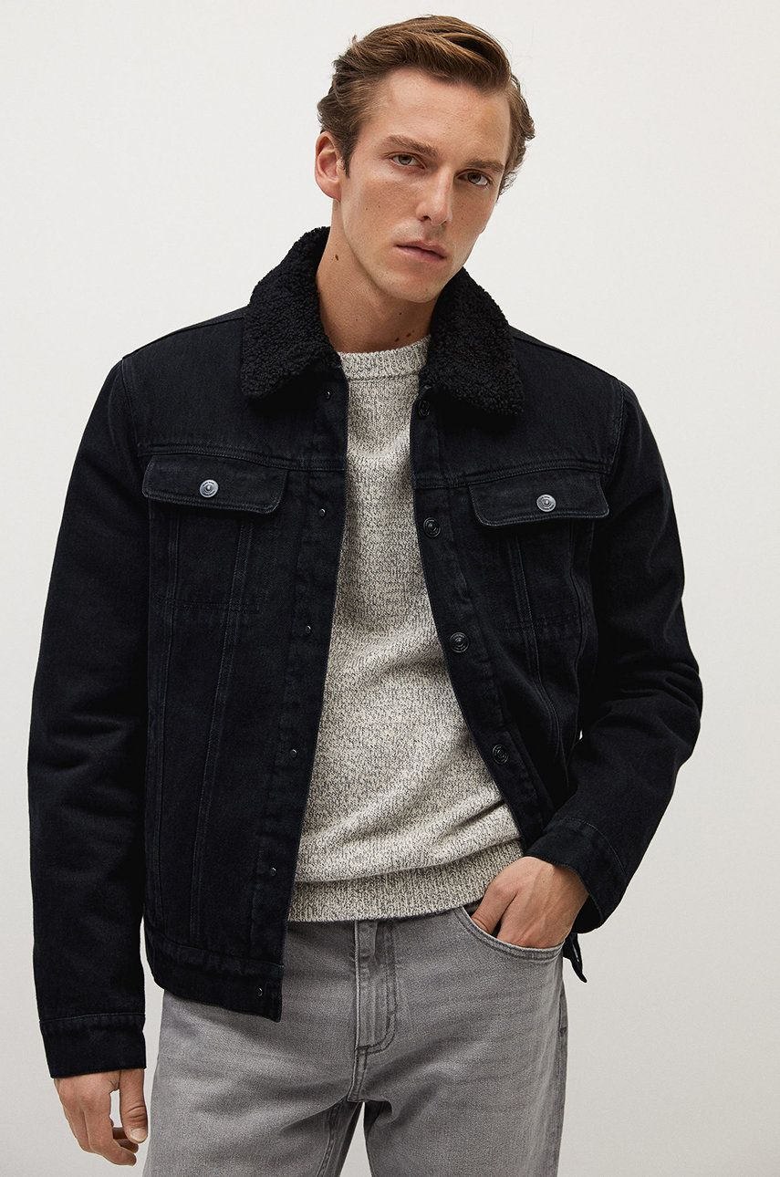 Mango Man - Geaca jeans Wasp answear.ro