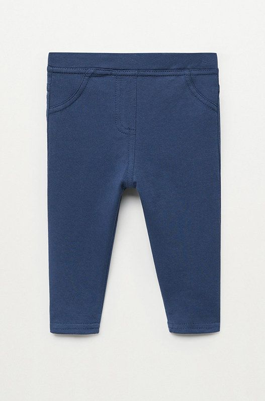 Mango Kids - Leggins copii Terry 80-104 cm poza answear