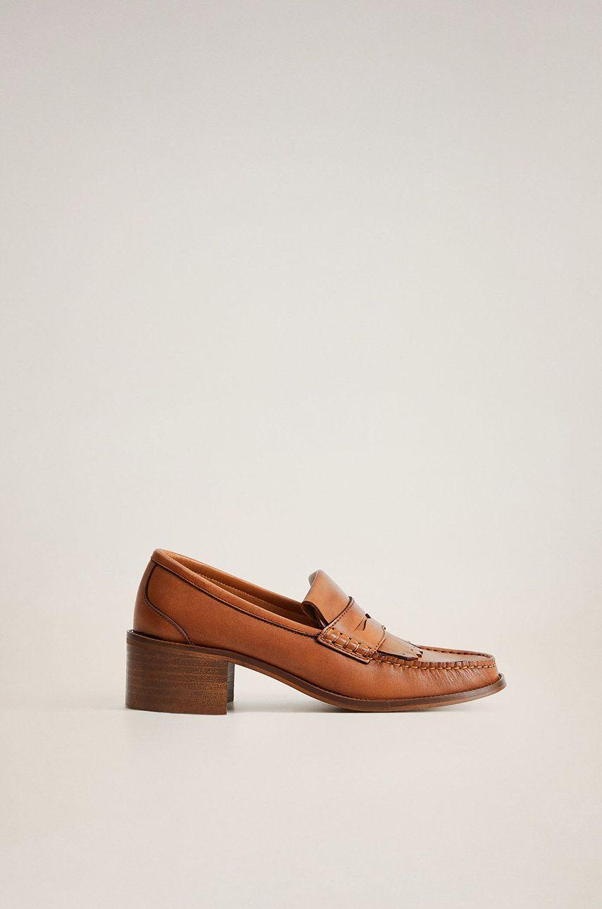 Mango - Pantofi de piele Nuria