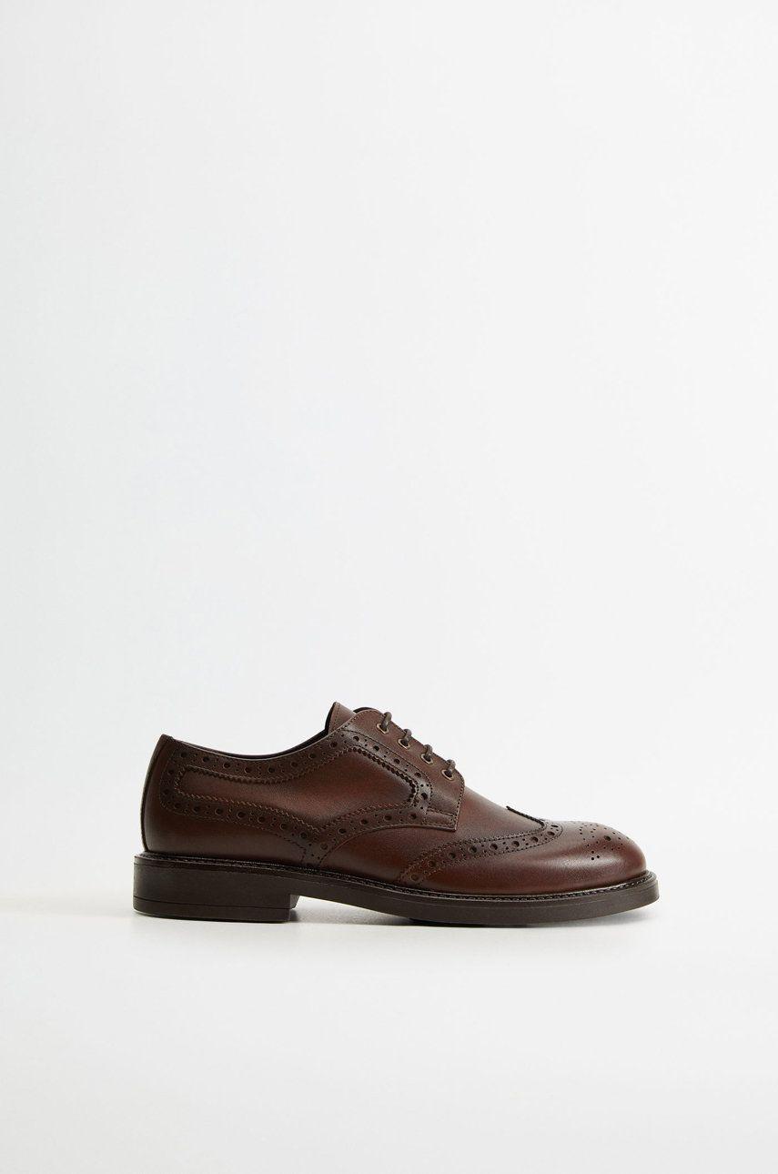 Mango Man - Pantofi de piele Leonapa imagine