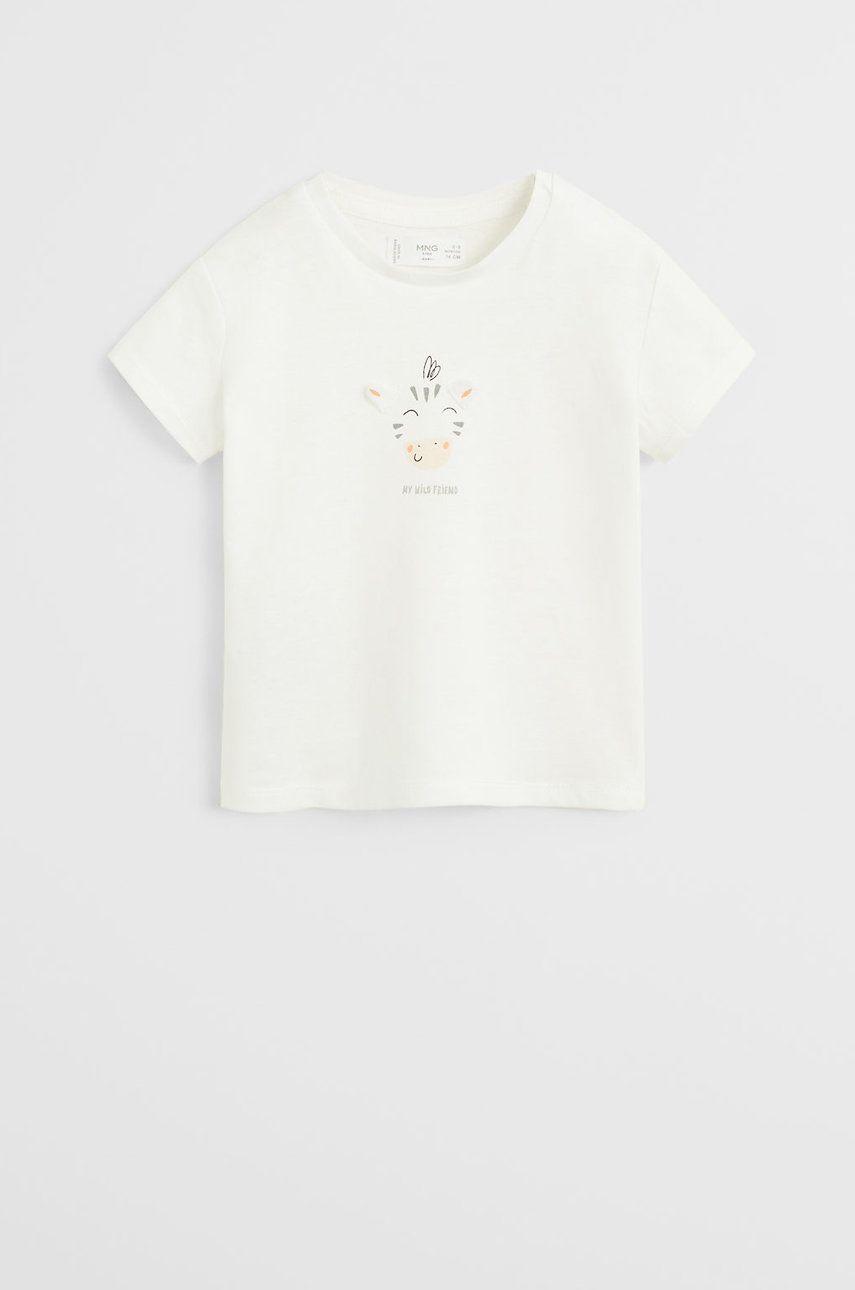 Mango Kids - Tricou bebe Wild 62-80 cm imagine