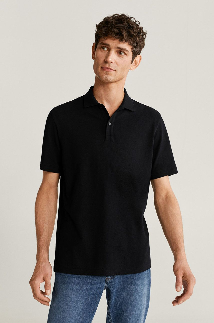 Mango Man - Tricou Polo Rea imagine 2020