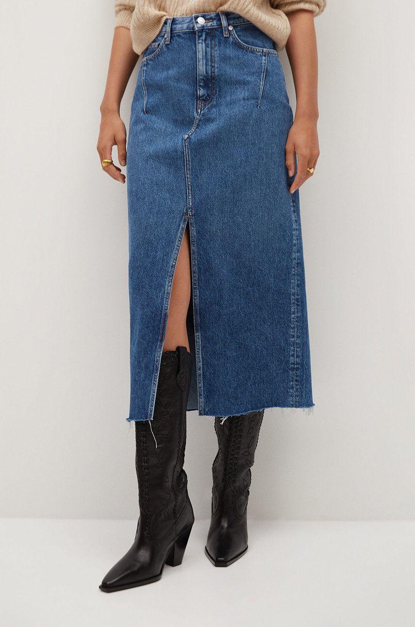 Mango - Fusta jeans Denim70