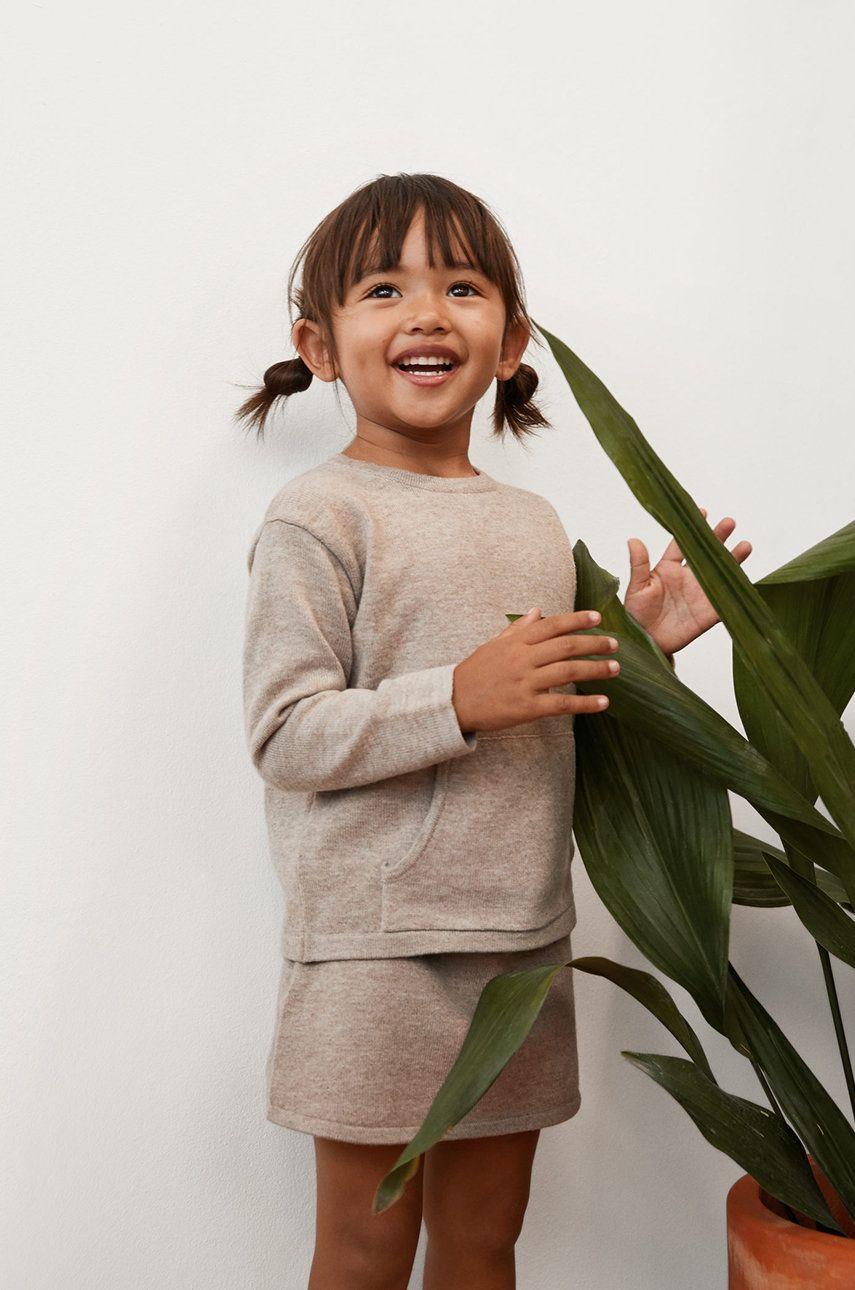 Mango Kids - Fusta fete Palitab 86-104 cm