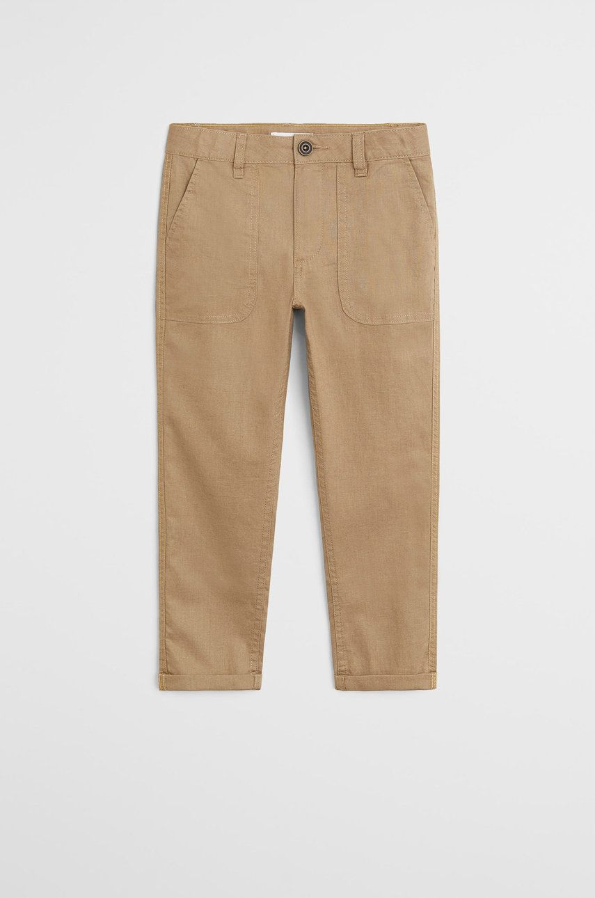 Mango Kids - Pantaloni copii Yucca 110-164 cm