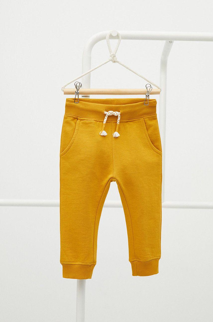 Mango Kids - Pantaloni copii Mateo 80-104 cm