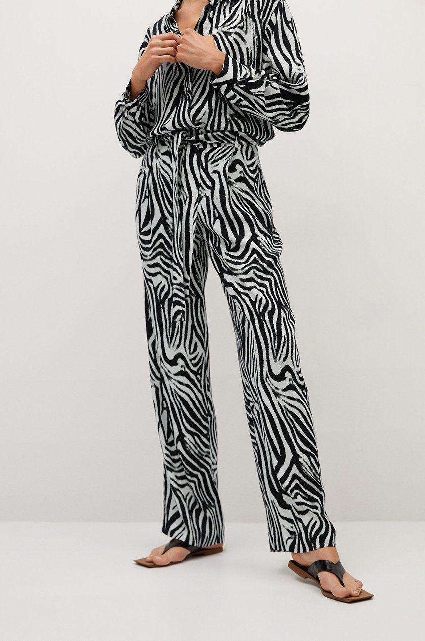 Mango - Pantaloni Zebra
