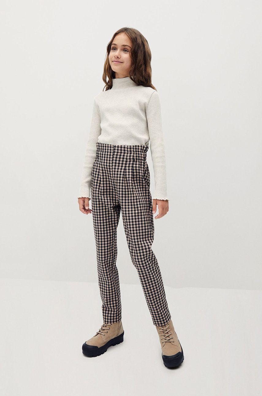 Mango Kids - Pantaloni copii Vichy 116-164 cm
