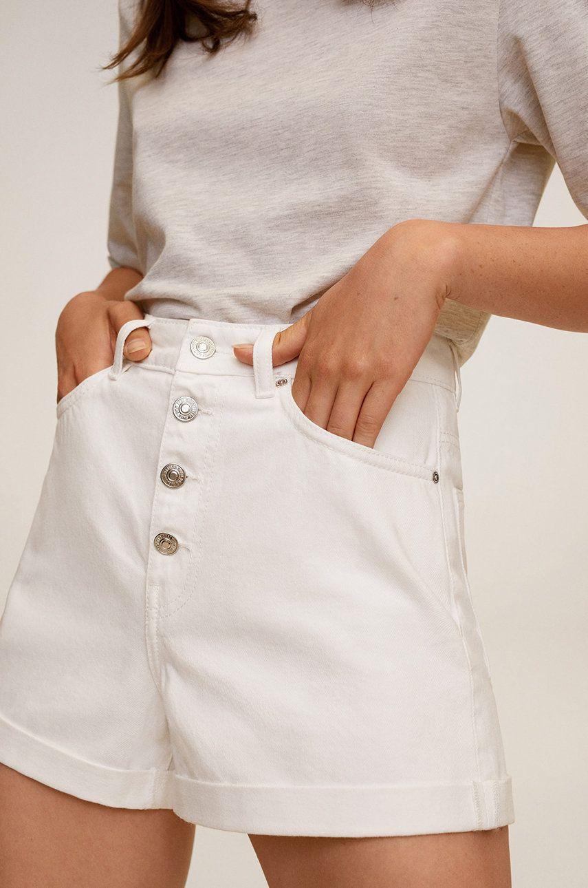 Mango - Pantaloni scurti jeans Buttons