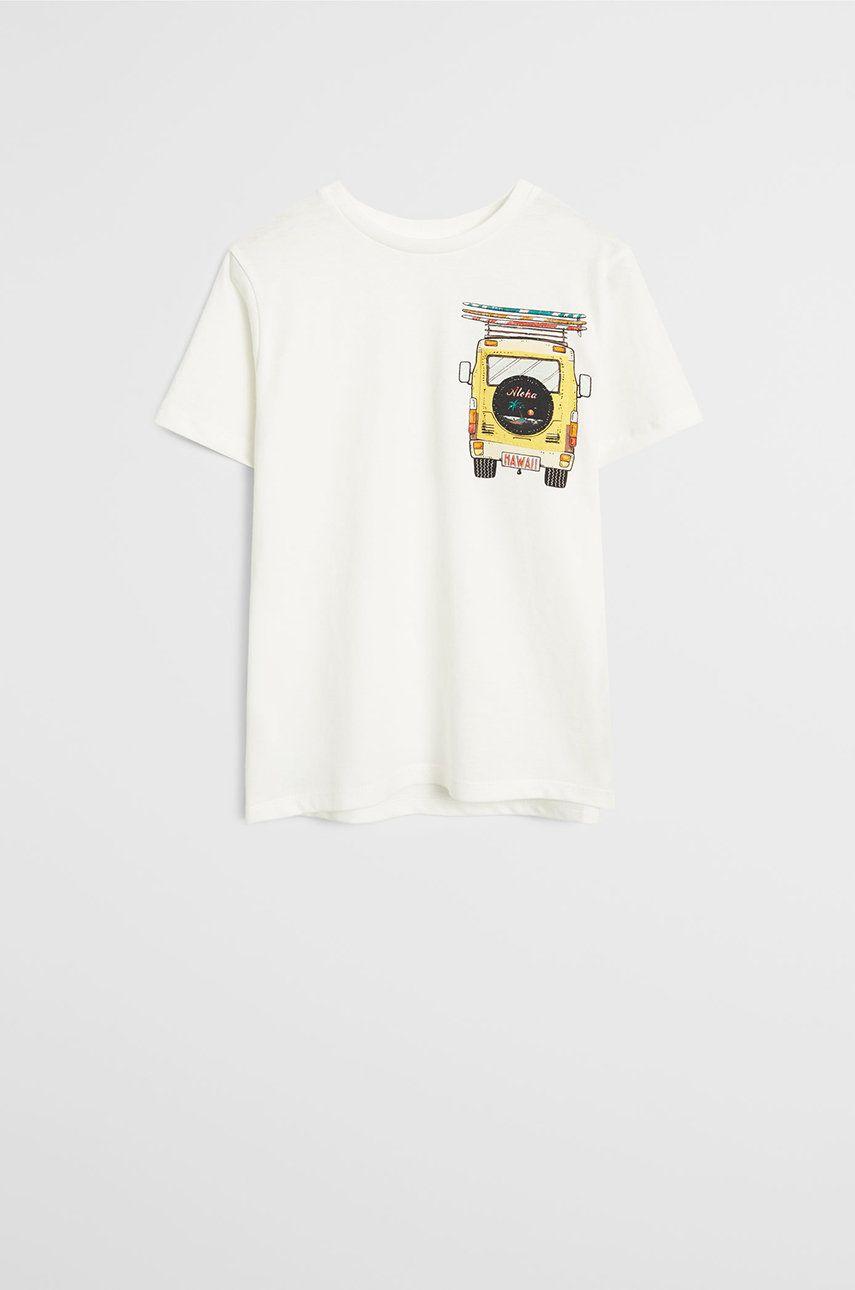 Mango Kids - Tricou copii Pocket 110-152 cm