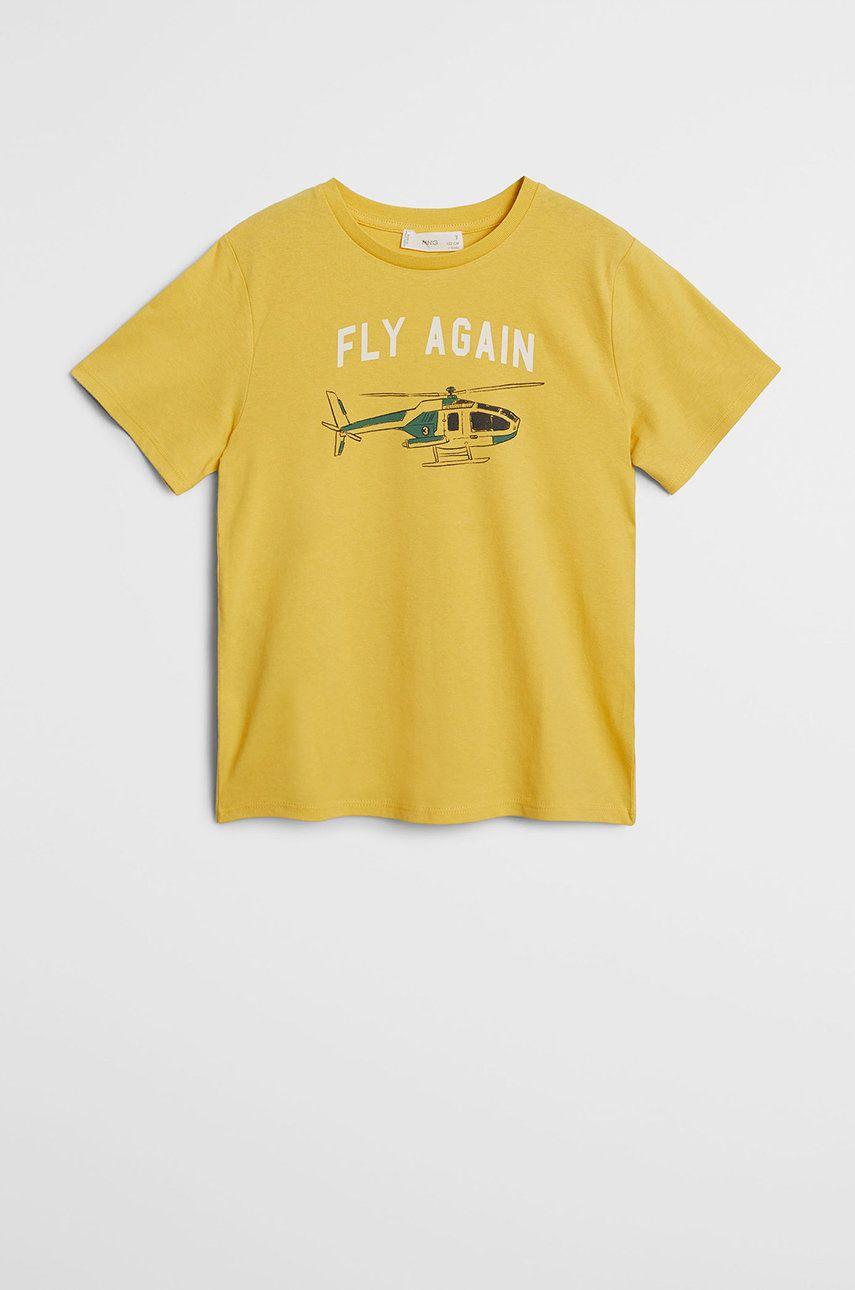 Mango Kids - Tricou copii Fly 110-152 cm