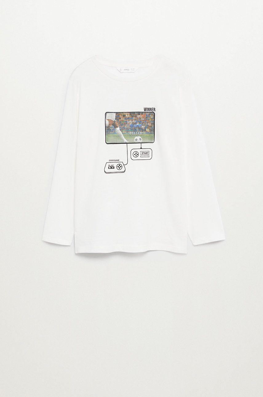 Mango Kids - Longsleeve copii Football 110-152 cm poza