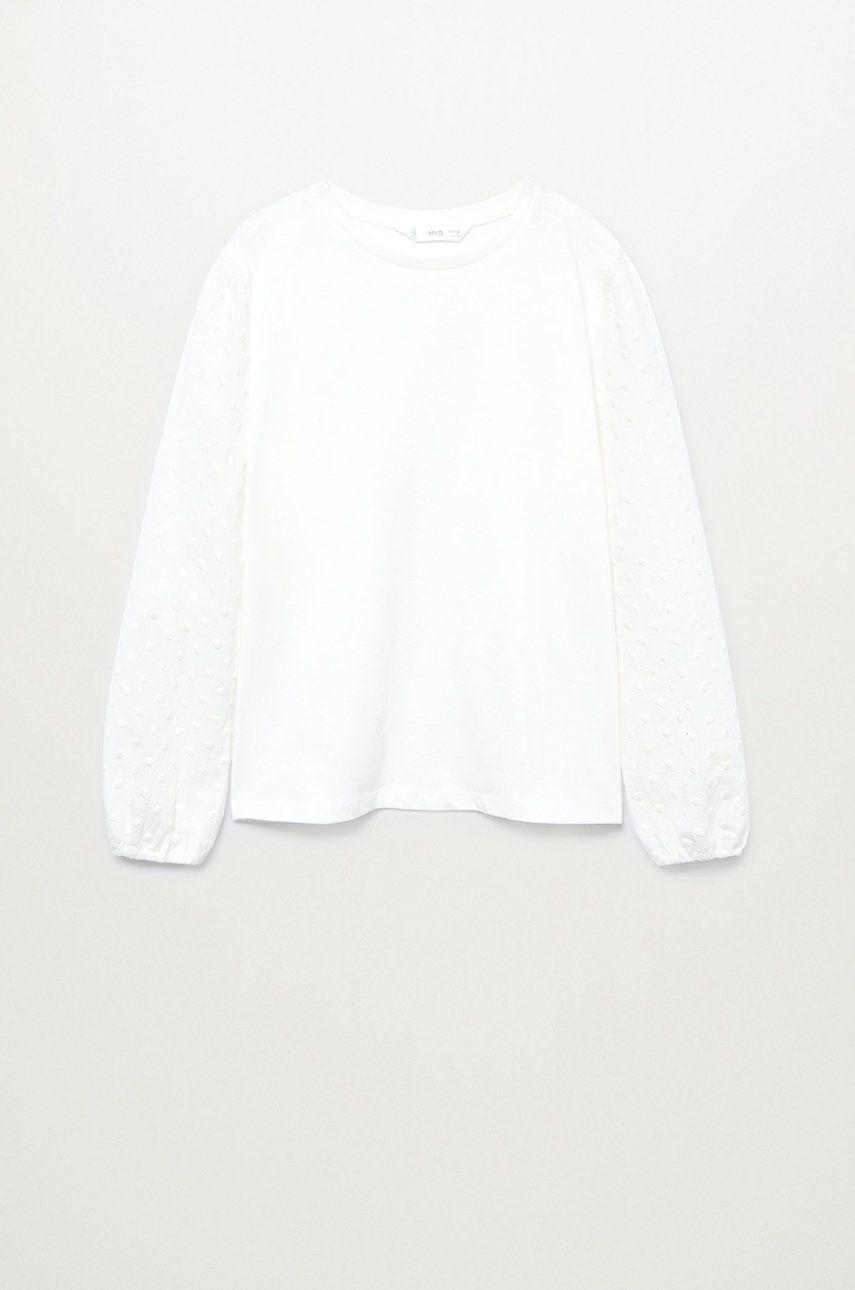 Mango Kids - Bluza de bumbac pentru copii Plumeti 110-164 cm