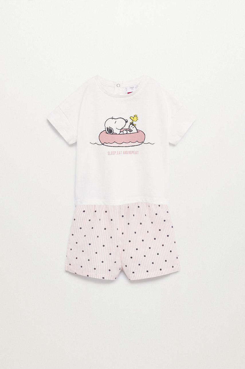 Mango Kids - Pijama copii Snoopyb 80-104 cm