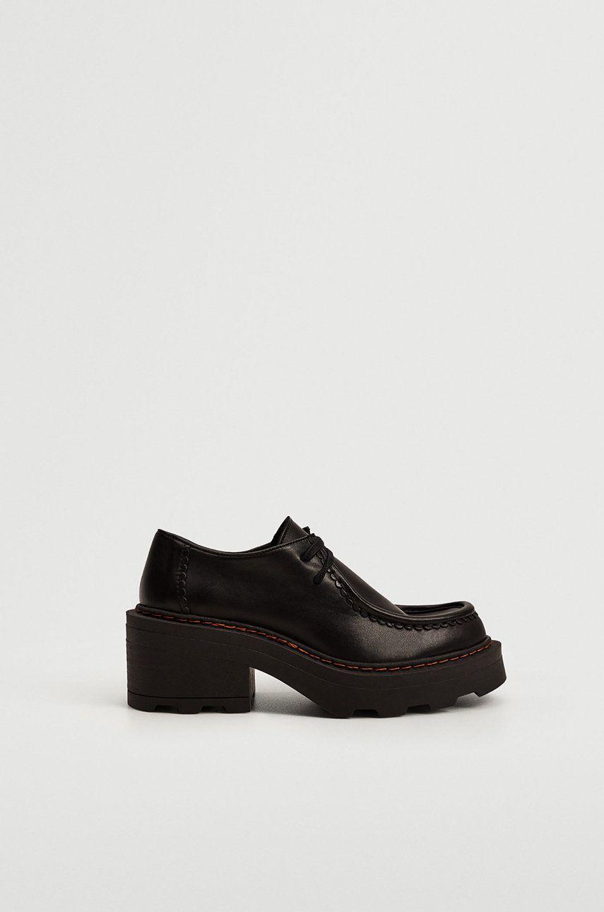 Mango - Pantofi de piele Wally