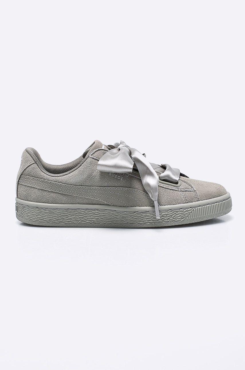 Puma - Pantofi Suede Heart Pebble Wn's