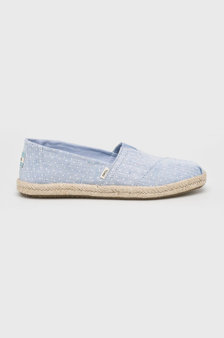 Toms - Espadrile Chambray Dots On Rope