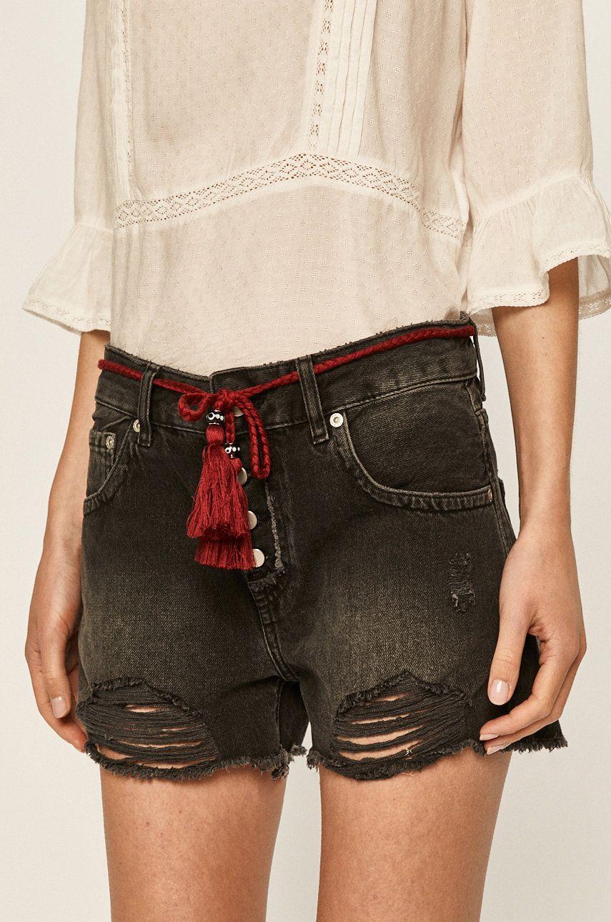 Pepe Jeans - Pantaloni scurti Bonita black