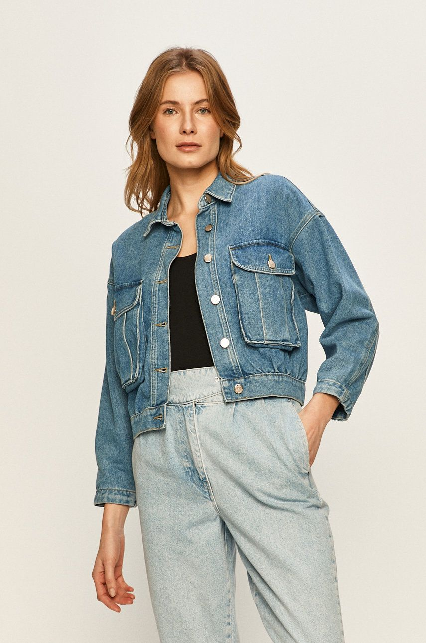 Only - Geaca jeans imagine