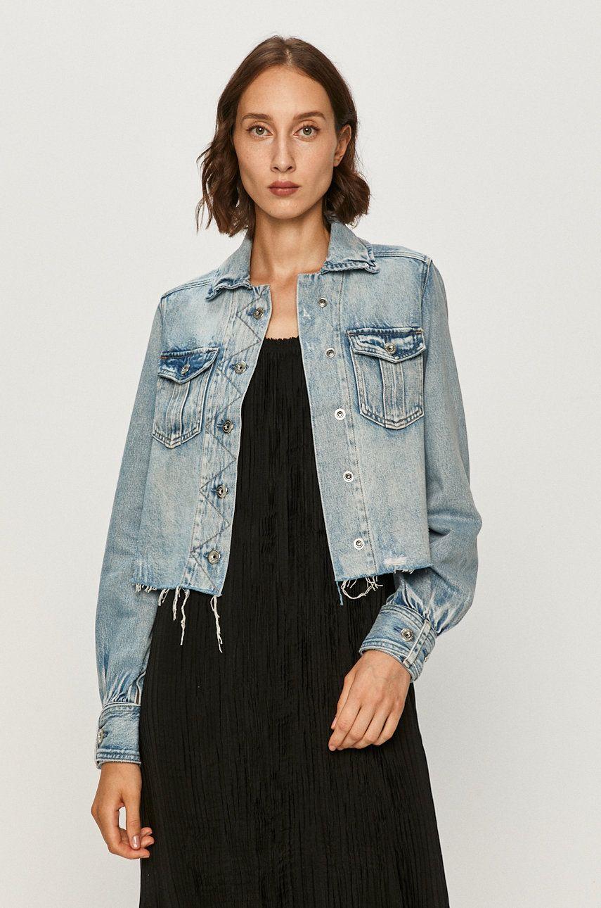 AllSaints - Geaca jeans Maisy imagine answear.ro