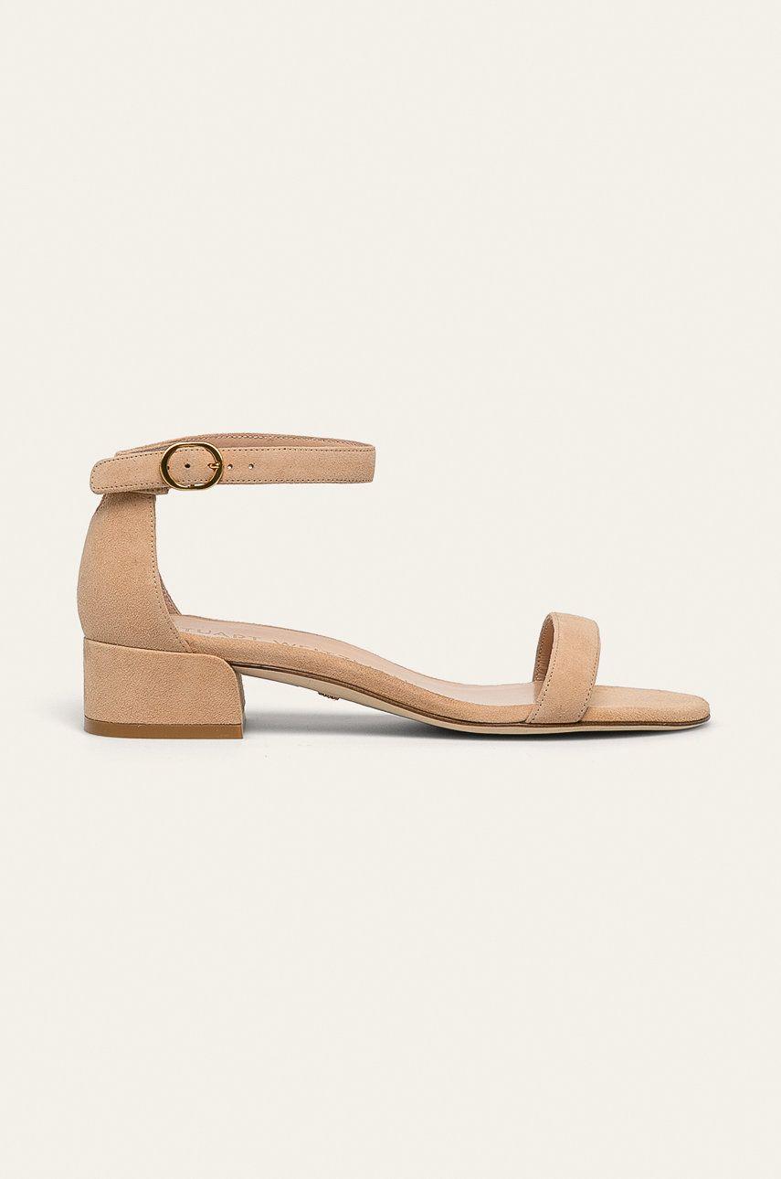 Stuart Weitzman - Sandale de piele Nudistjune imagine