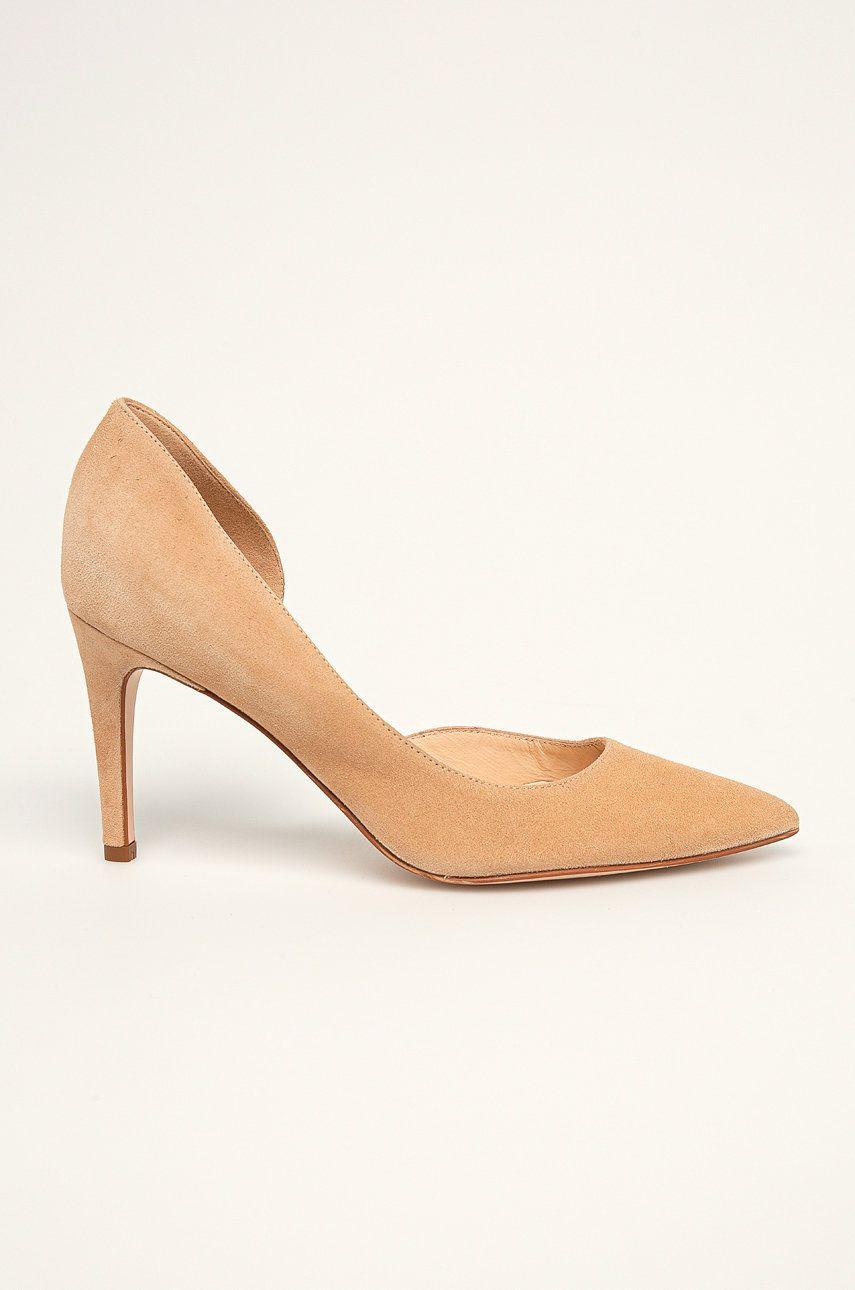 Solo Femme - Stilettos de piele poza answear