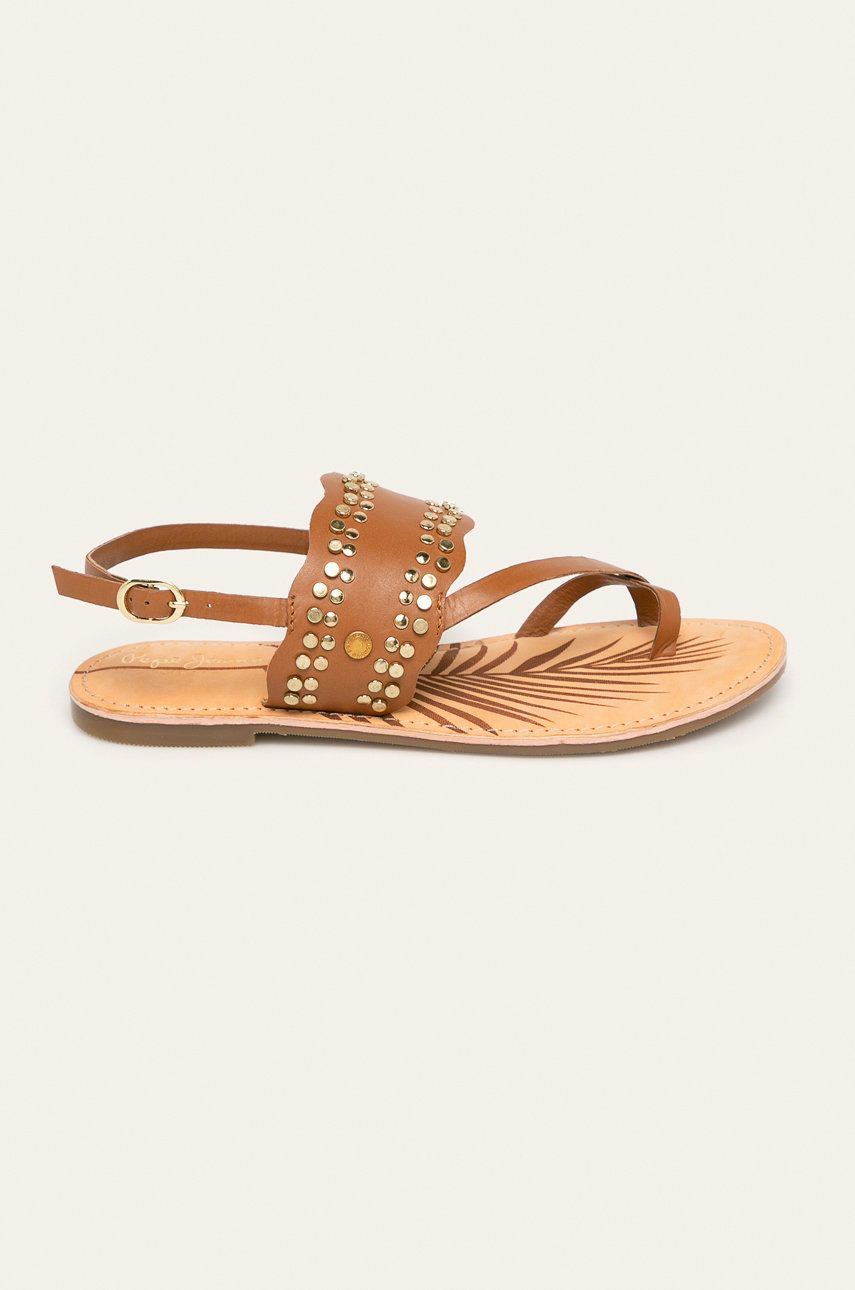 Pepe Jeans - Sandale de piele March Studs