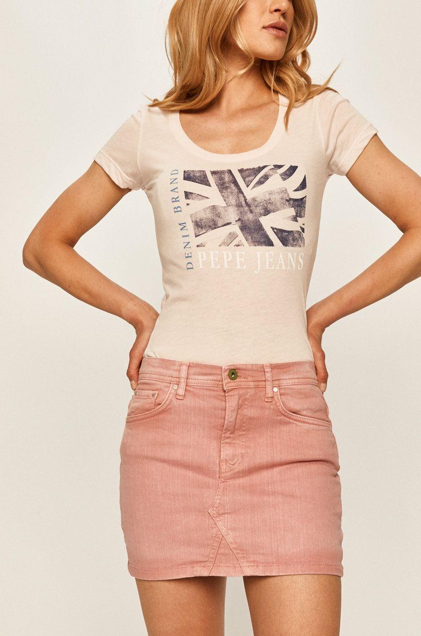 Pepe Jeans - Fusta jeans Dani