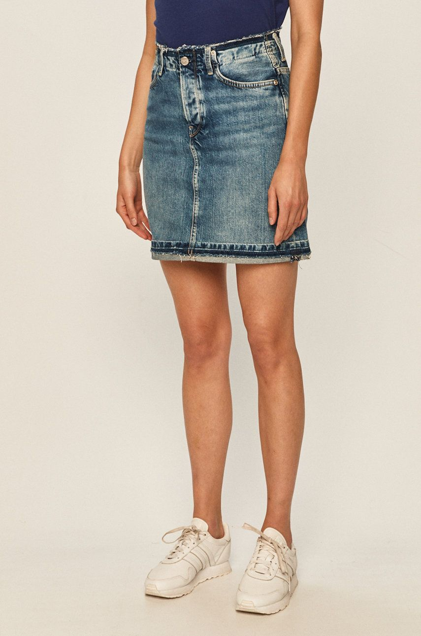 Pepe Jeans - Fusta jeans Revive