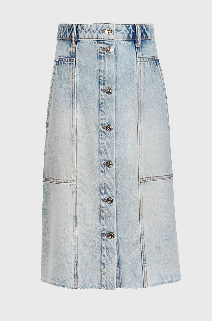 AllSaints - Fusta jeans imagine answear.ro