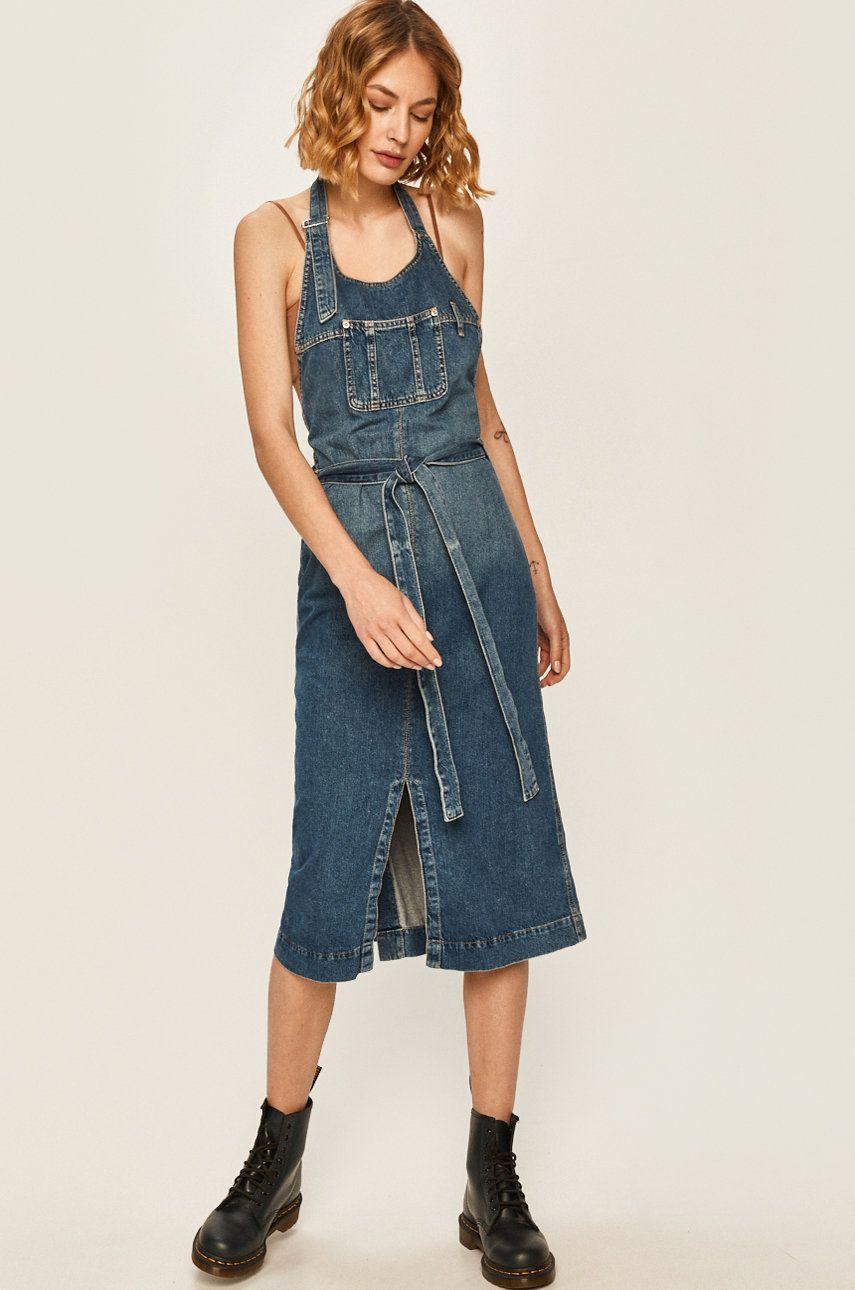 Pepe Jeans - Rochie jeans Kate x Dua Lipa