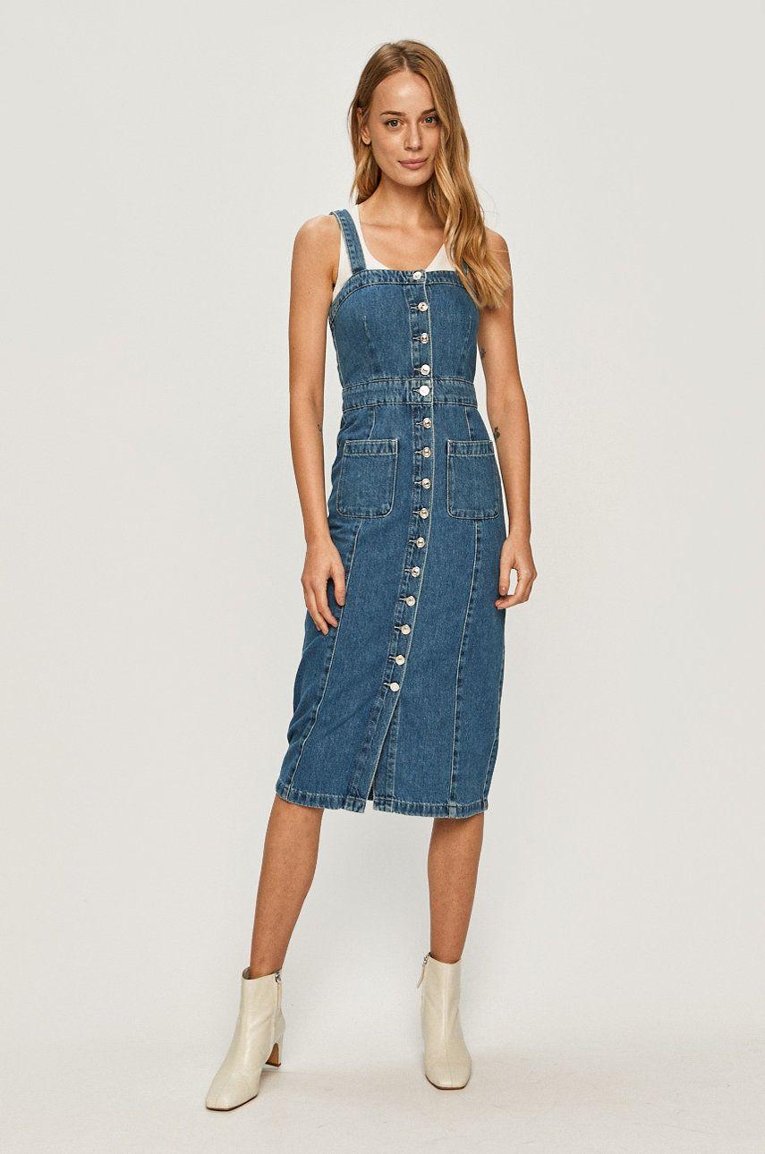AllSaints - Rochie jeans