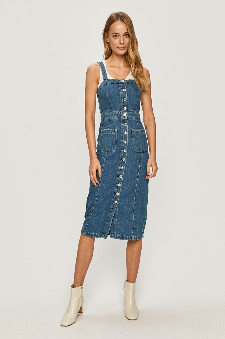 AllSaints - Rochie jeans imagine answear.ro