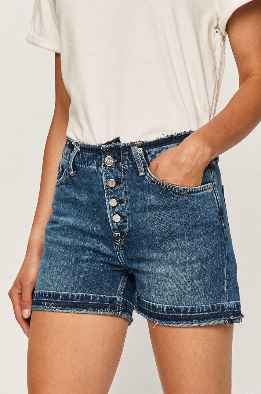 Pepe Jeans - Pantaloni scurti jeans Mary imagine answear.ro 2021