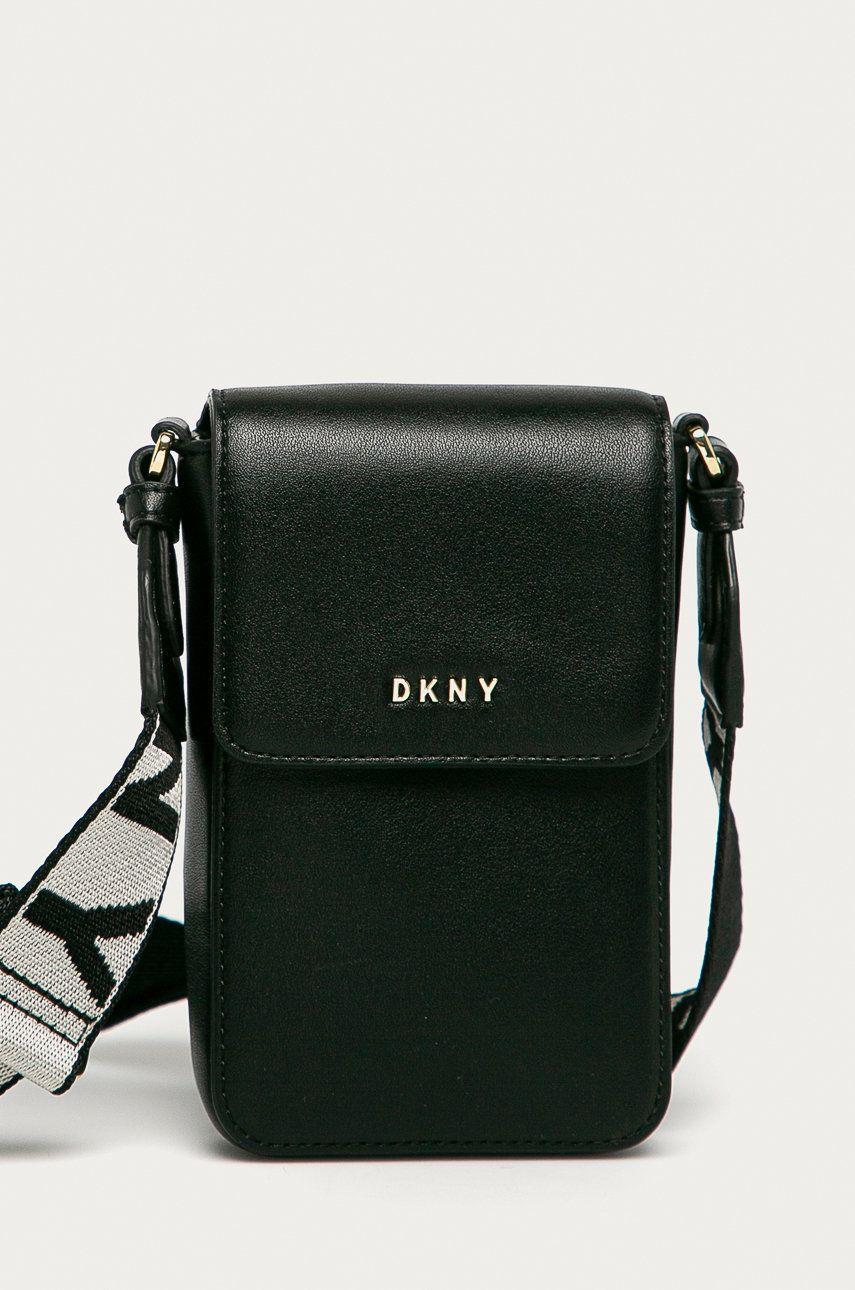Dkny - Husa de piele telefon imagine answear.ro
