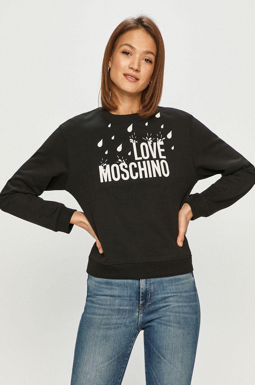 Love Moschino - Hanorac de bumbac