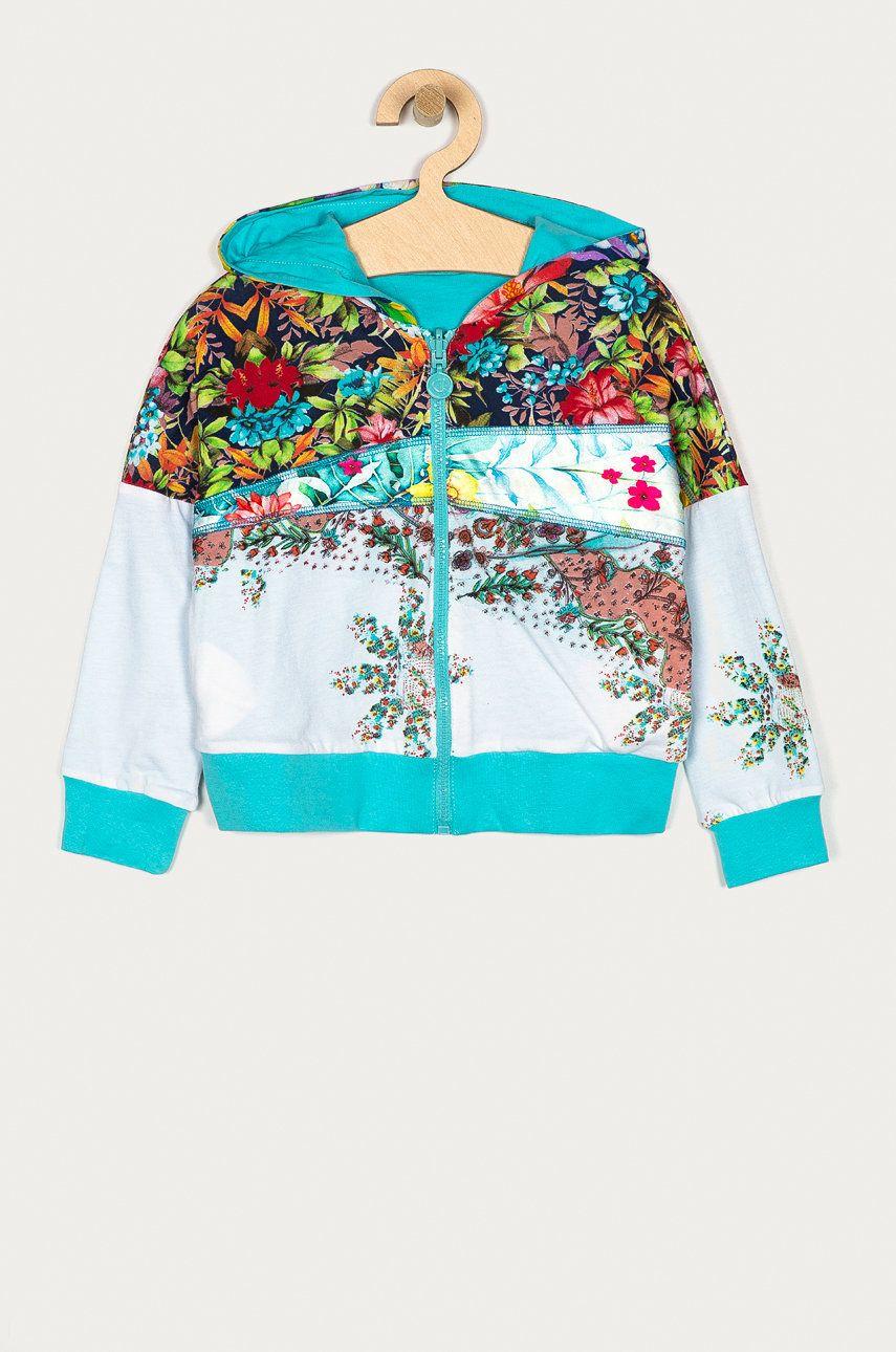 Desigual - Bluza cu doua fete copii 104-164 cm imagine answear.ro 2021