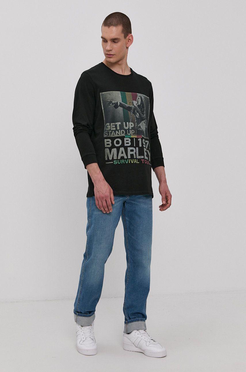 Wrangler - Tričko s dlouhým rukávem x Bob Marley