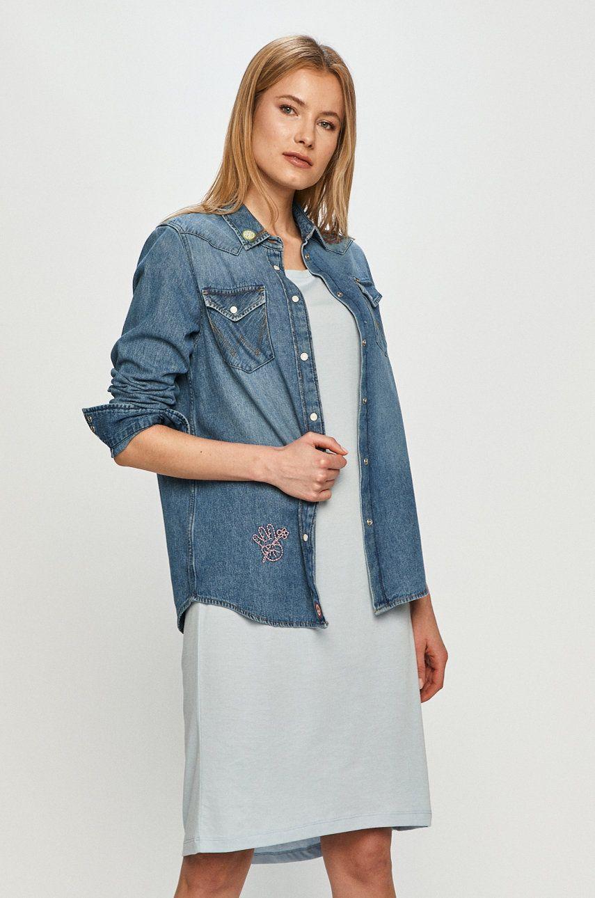 Wrangler - Camasa jeans answear.ro