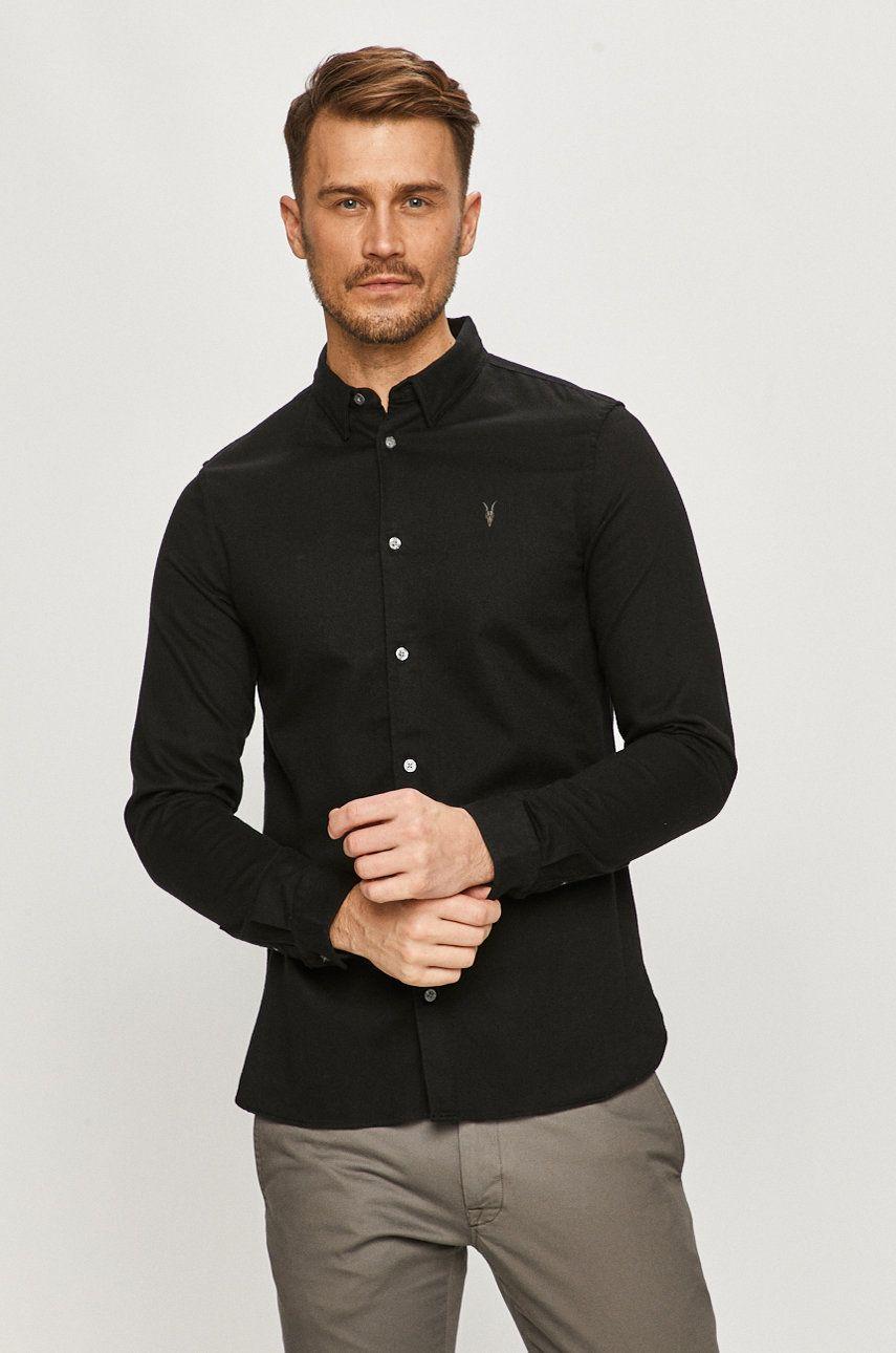 AllSaints - Camasa din bumbac imagine answear.ro