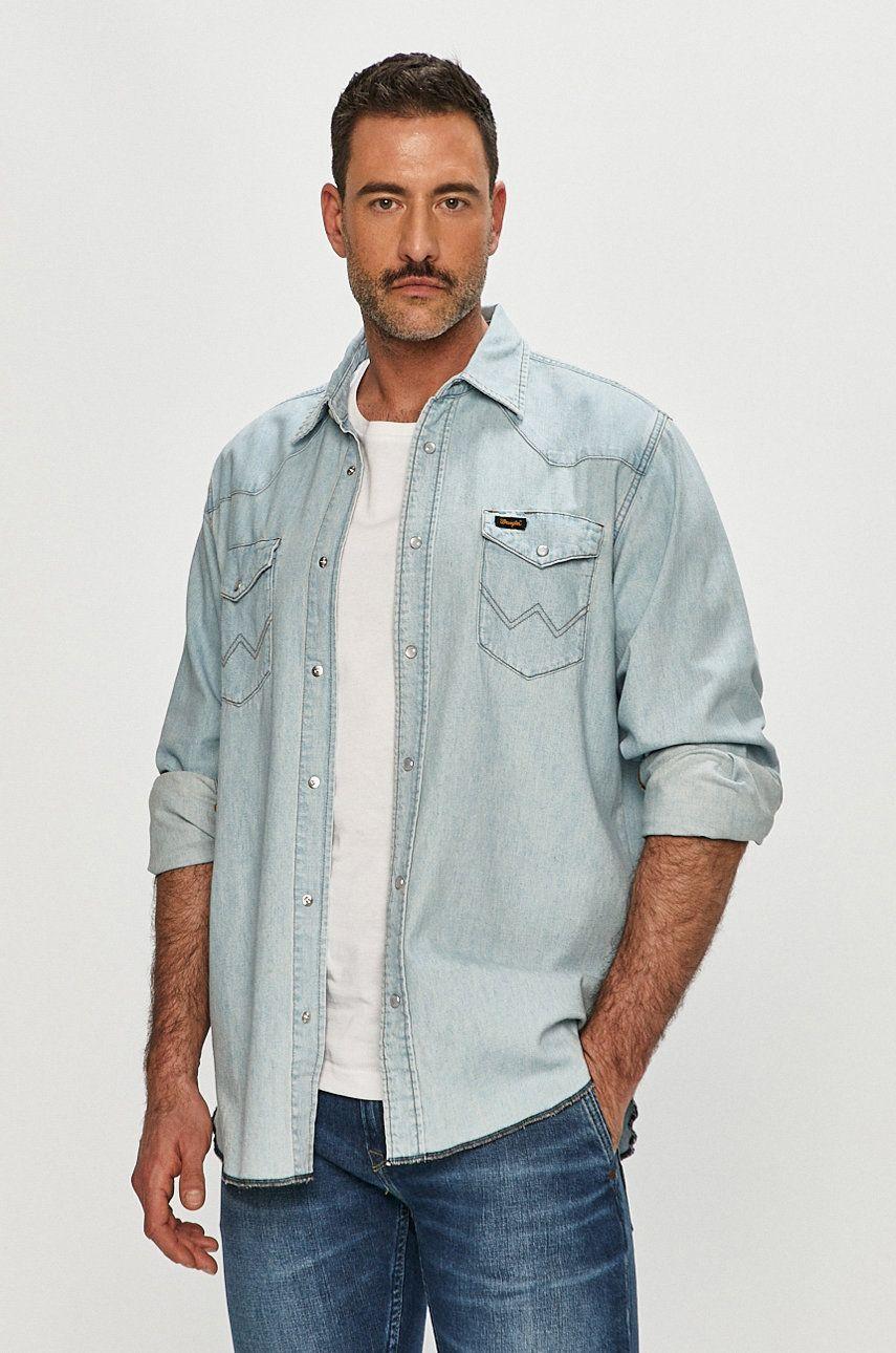 Wrangler - Camasa jeans imagine answear.ro