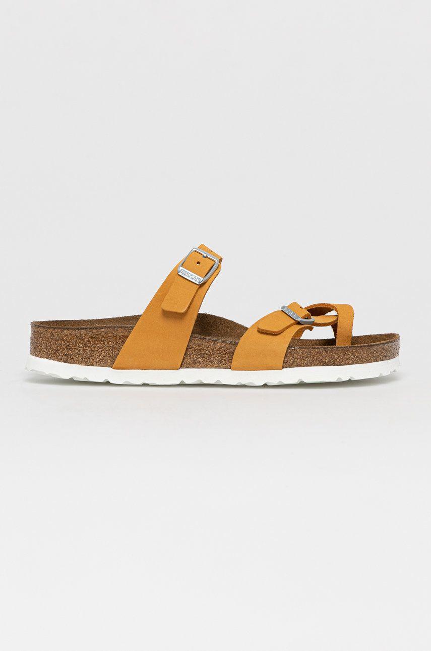 Birkenstock - Papuci din piele Mayari