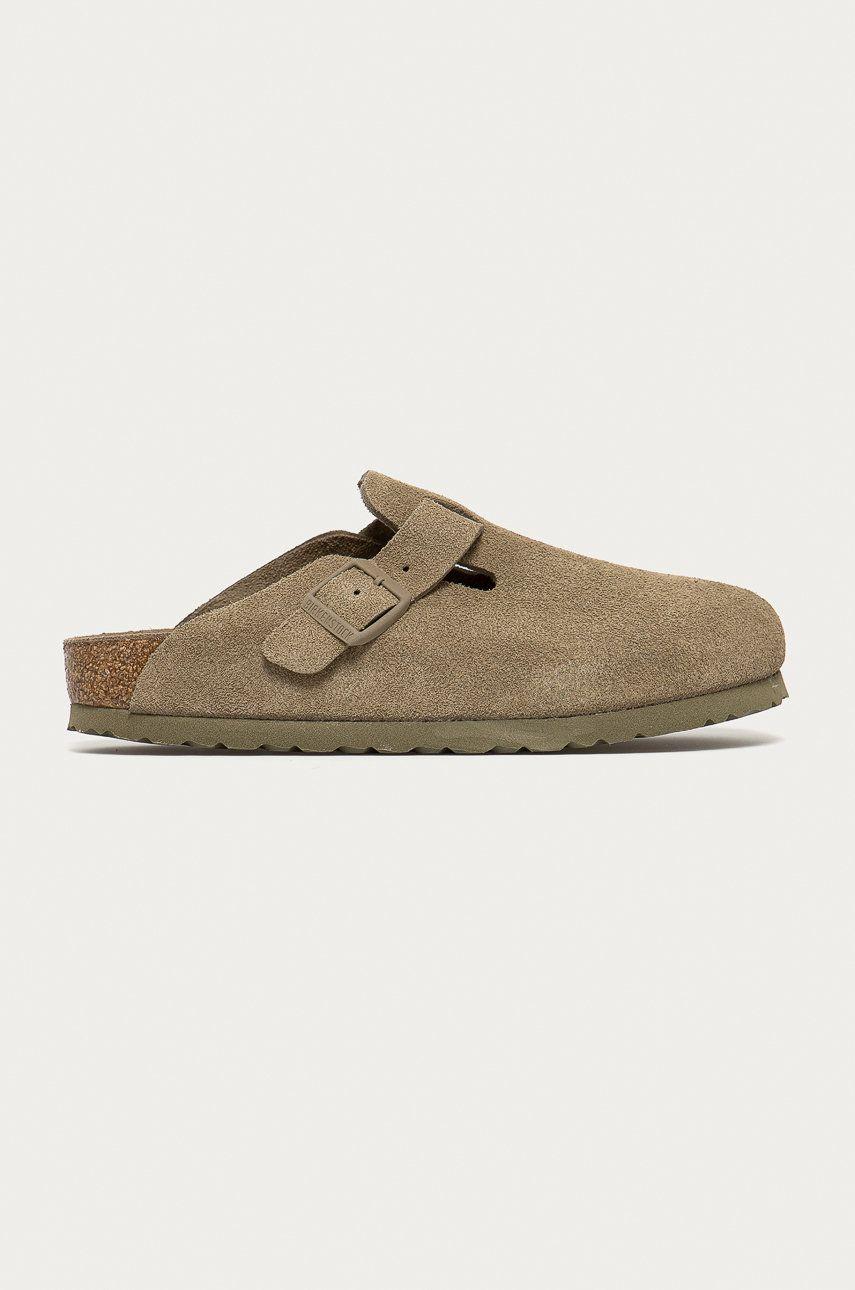 Birkenstock - Papuci din piele Boston