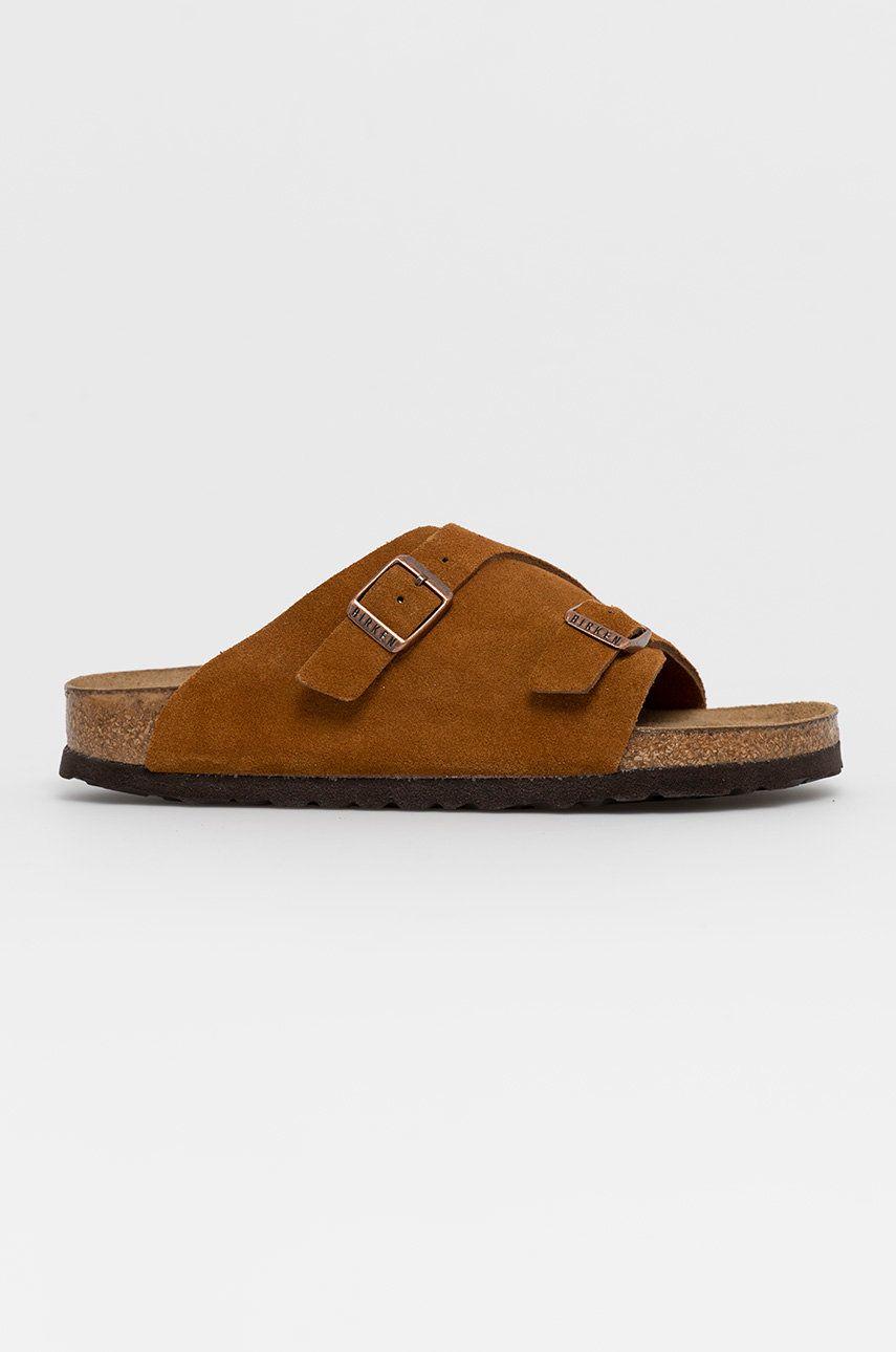 Birkenstock - Papuci din piele Zurich