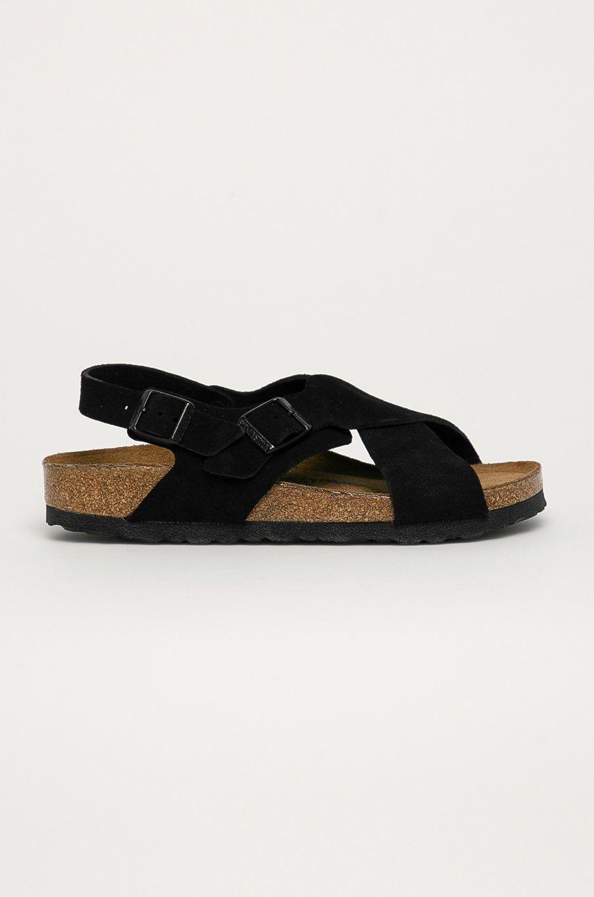Birkenstock - Sandale din piele intoarsa Tulum SFB
