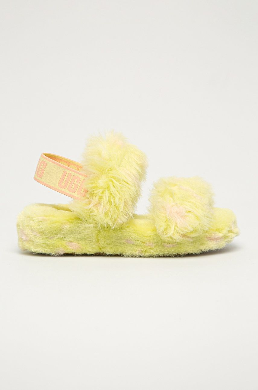 UGG - Papuci din piele Oh Yeah